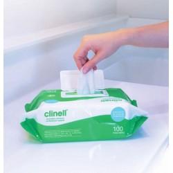 Clinell Universal lavete dezinfectante profesionale pentru curățarea si dezinfectarea mâinilor, suprafețelor și echipamentelor